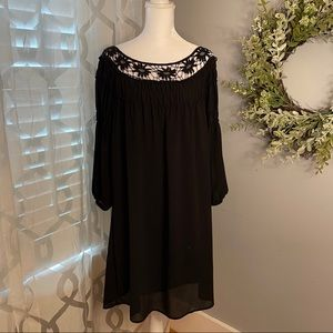 Black Boho HALO dress